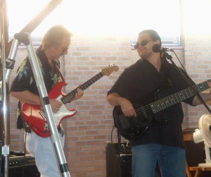 Jammin' with guitarist Joe Tirpak