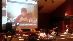 Donna Halper, credited for facilitating the exposure of the Canadian trio RUSH to American audiences in 1974, skyping a Q&A with TU's class exploring Rush and Progressive Rock's impact on culture.