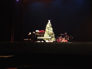 "Onstage as musical director for the Ritz Players' production of ""Broadway Christmas Revue"" (2014) with drummer John Spahr"