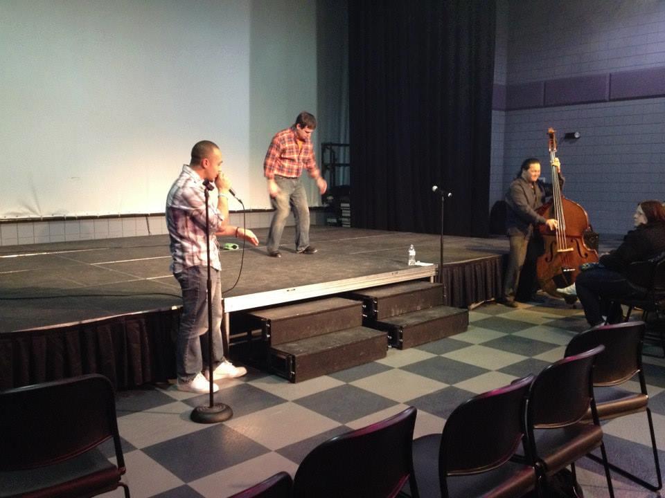 Performing with Jeremy Czarniak, tap, and Ivan Santiago, beatboxer (2014)