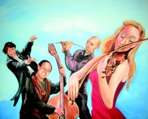 Artist rendition of Johnstown Symphony Orchestra personalities