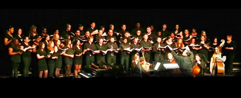 Tiffin University University Choir with string quintet, April 2013
