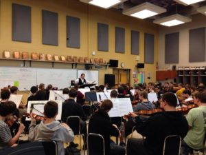 Clinic with Sylvania Northview High School Orchestra, OHIO, October, 2016