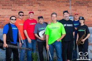 "Wally & the Beavs, 2015. photo credit: Jon Roan Photography From left to right: Nathan, Ed Adams, Joel Bokerman, AJ Tscherne, Bruce Burkhart, Bill ""Wally"" Hesselschwardt, Jeff ""Boz"" Skaggs, Shannon Ford"