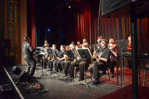 Leading the Tiffin University Dragon Big Band in 2016.