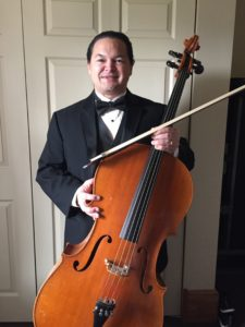"Playing cello for a performance of G.F. Handel's ""Messiah."""